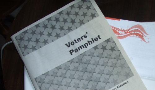 Voter pamphlet. Image: Pete Forsyth (CC Licence)